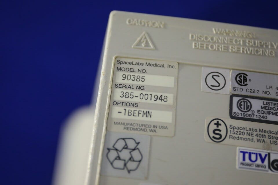 SPACELABS MEDICAL UCW 90385 Display Monitor