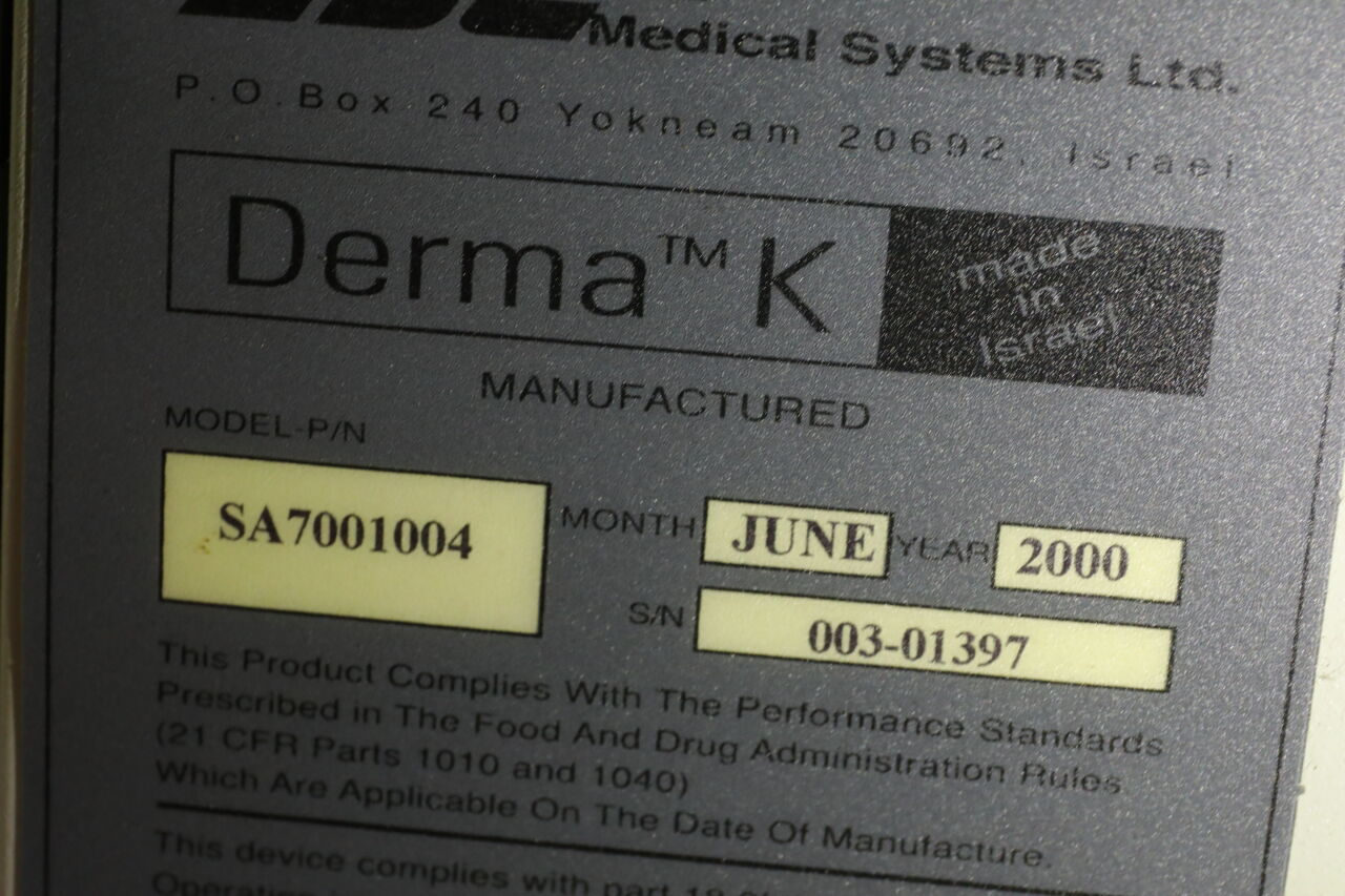 ESC MEDICAL SYSTEMS Derma K Laser - Erbium