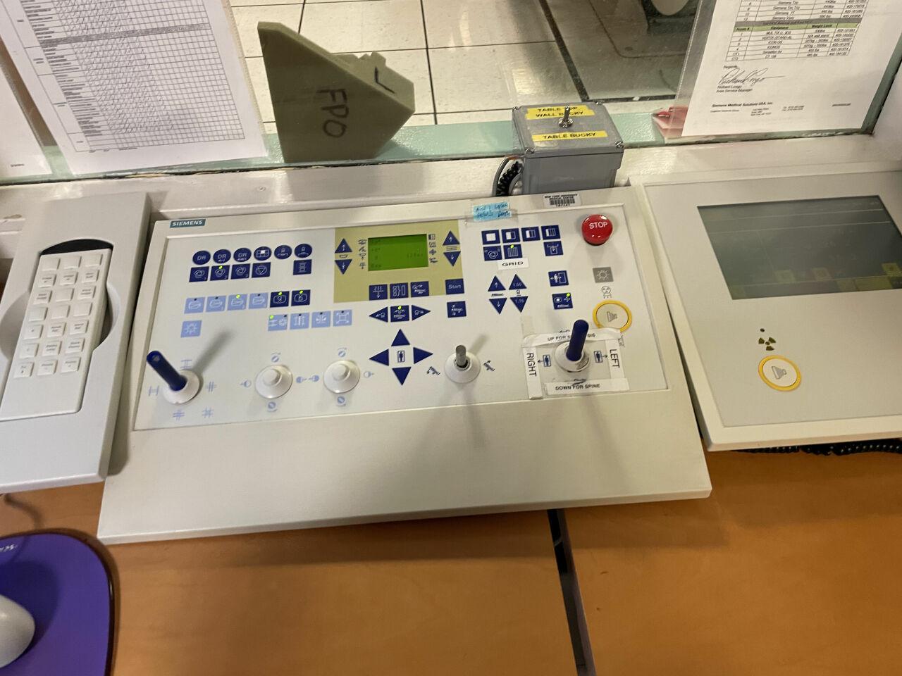 SIEMENS Axiom Iconos R200 Polydorus SX 65 generator Remote R/F Room