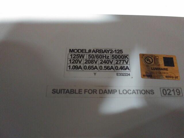 LUMINAIRE ARBAY2-125 Light Utility