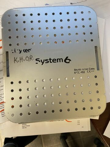 STRYKER System 6 Drill set with Sterilization case