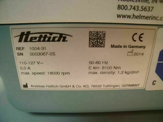 HETTICH 1004-31    Centrifuge