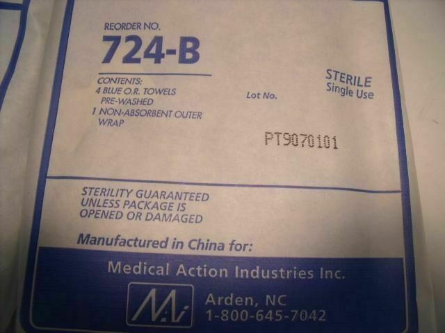 MEDICAL ACTION 724-B  16 TOTAL BLUE O.R. TOWELS