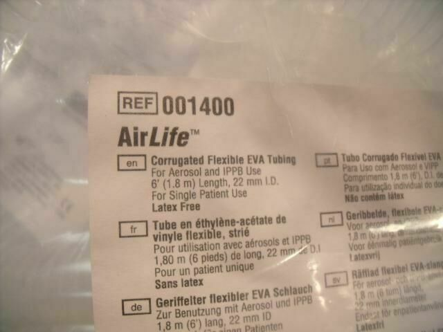 AIRLIFE 001400 CORRUGATED FLEXIBLE  EVA TUBING