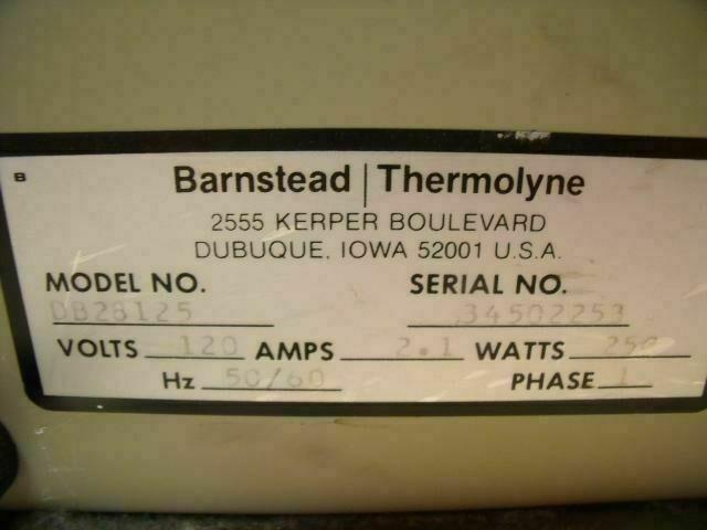 BARNSTEAD DB28125 THERMOLYNE DRI-BATH Heat Therapy Unit