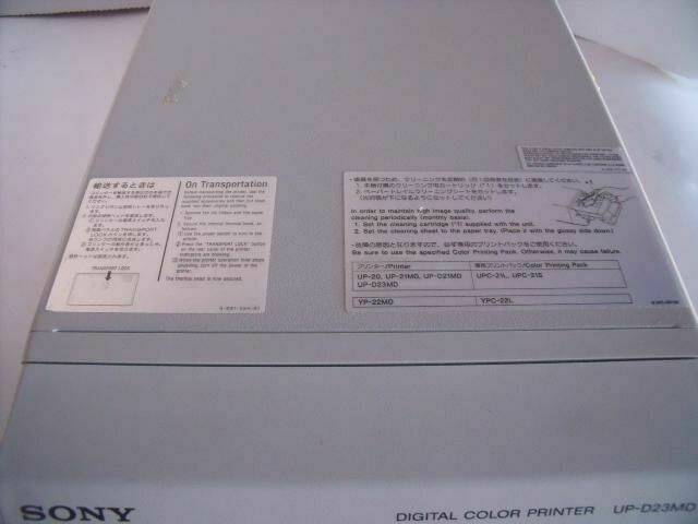 SONY UP-D23MD DIGITAL COLOR   Printer