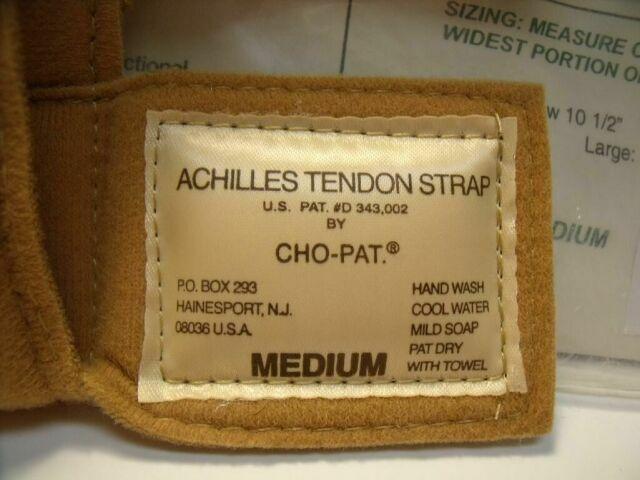 CHO-PAT D343.002  LOT OF 3 MEDIUM ACHILLES TENDON STRAPS Brace