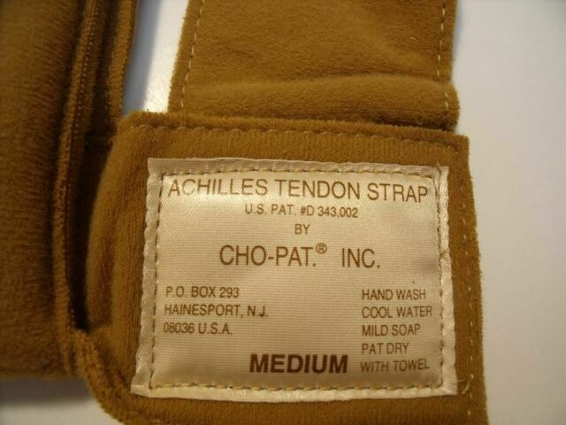 CHO-PAT D343.002  LOT OF 3 MEDIUM ACHILLES TENDON STRAPS Brace