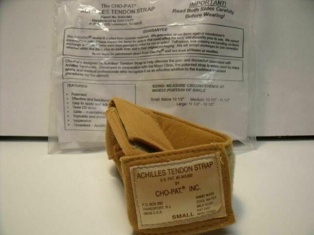 CHO-PAT D343.002  LOT OF 3 ACHILLES TENDON STRAPS, 2 MEDIUM, 1 SMALL Brace