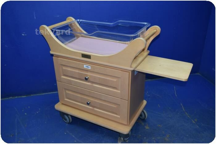 STRYKER Infant / Baby Bassinet W/ Wood Cabinet