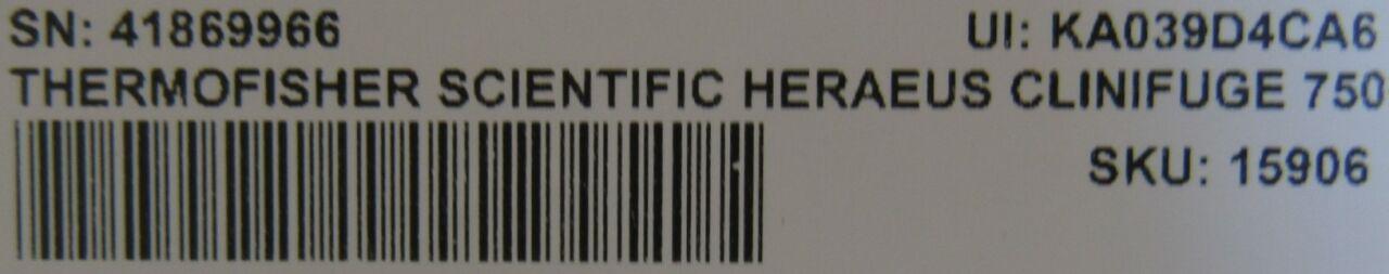 THERMO SCIENTIFIC Heraeus Clinifuge 7500  Centrifuge