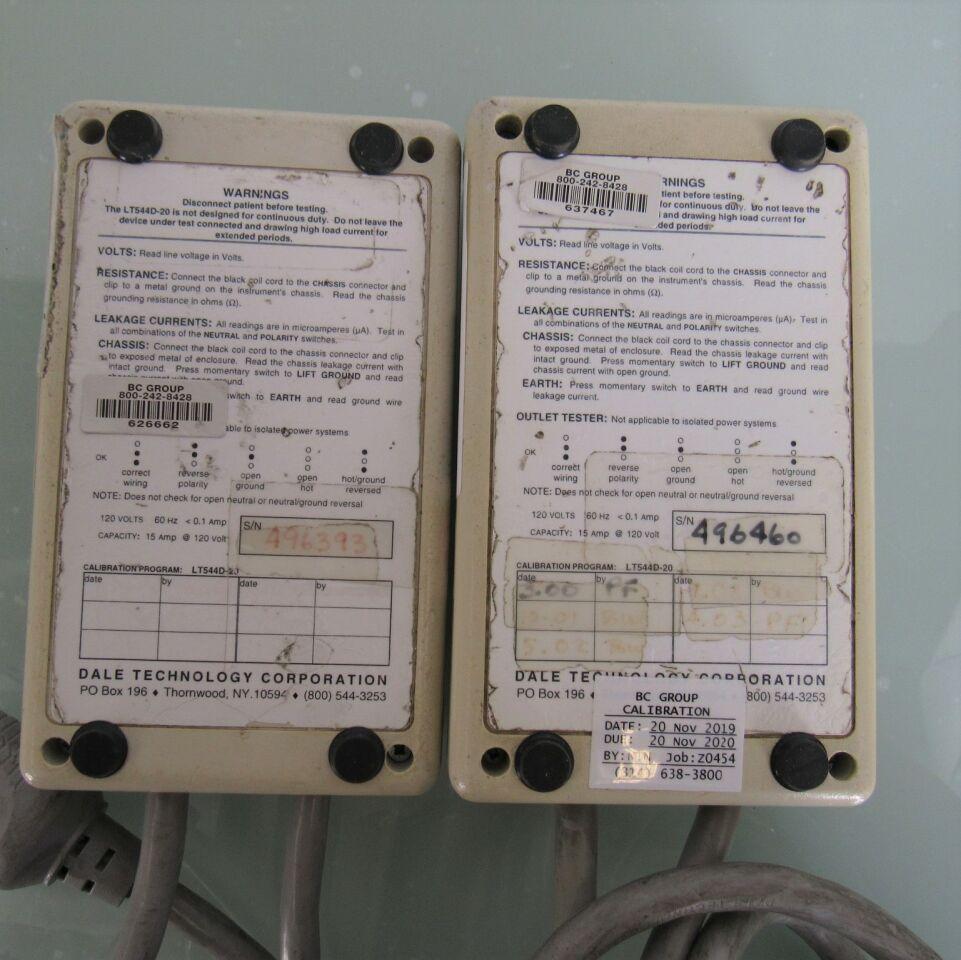 DALE TECHNOLOGIES LT 544D-20  - Lot of 2 Safety Tester