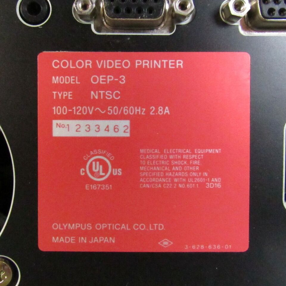 OLYMPUS OEP3 Color Video  Printer