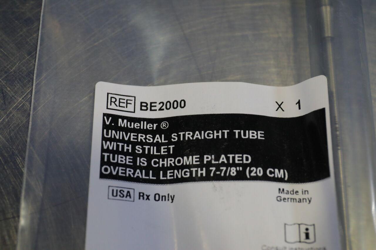 V. MUELLER BE2000 Universal Straight Tube w/ Stylet Tube