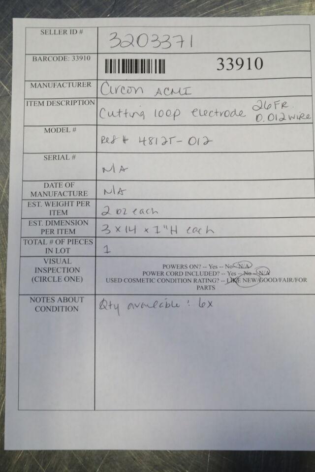 CIRCON ACMI 4812T-012 Cutting 100P Electrode