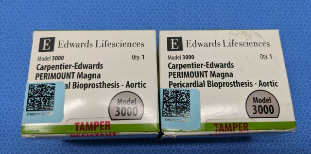 CARPENTIER. EDWARDS 3000 27MM, 3000 29MM Ultrasound Perimount Magna Pericardial Aortic Bioprosthesis 3000, 27mm  & 29mm Cardiac