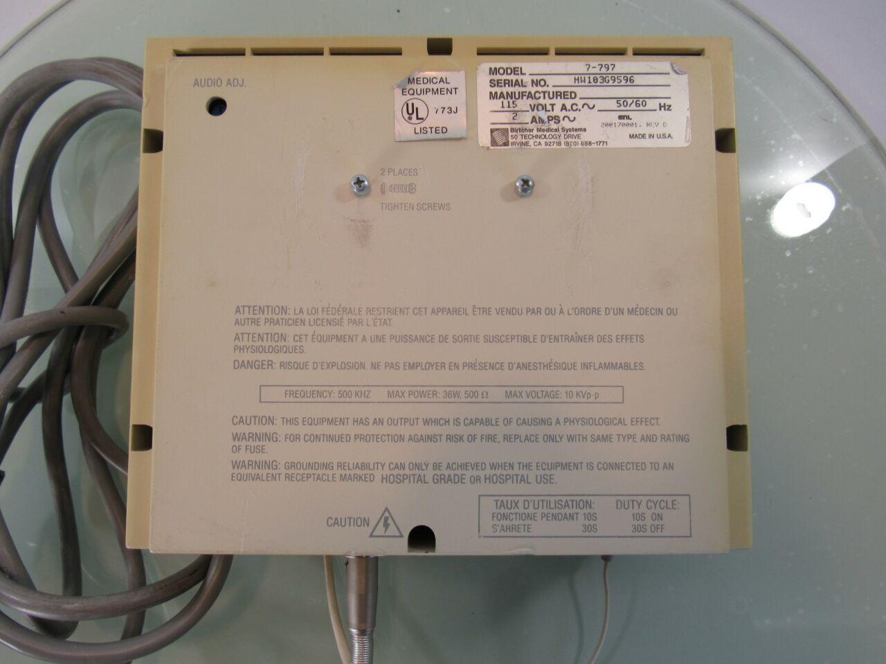 BIRTCHER Hyfrecator Plus 7 797 Hyfrecator