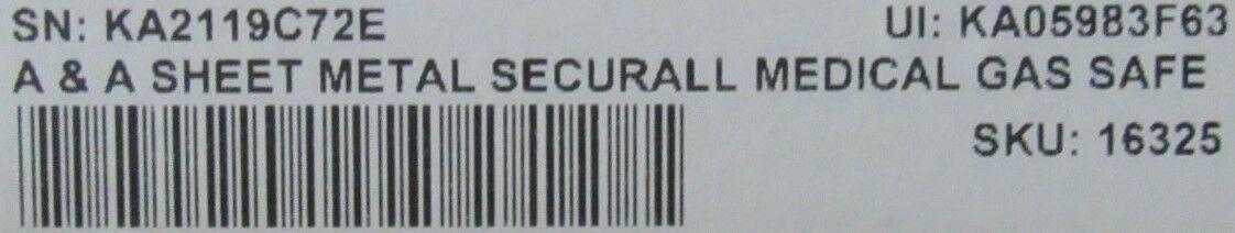AA SHEET METAL Securall Medical Gas Safe