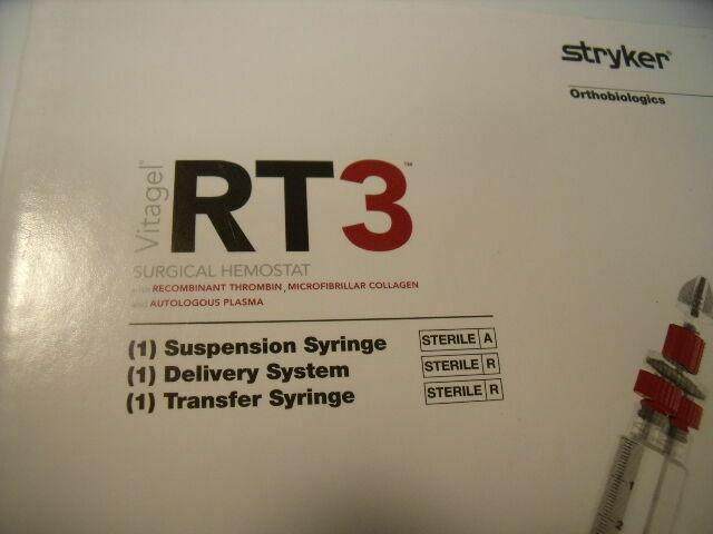 STRYKER 2113-0205 RT3 VITAGEL SURGICAL HEMOSTAT