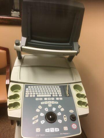 B&K 2101 Falcon  8658S Ultrasound System w/ Probe and Printer