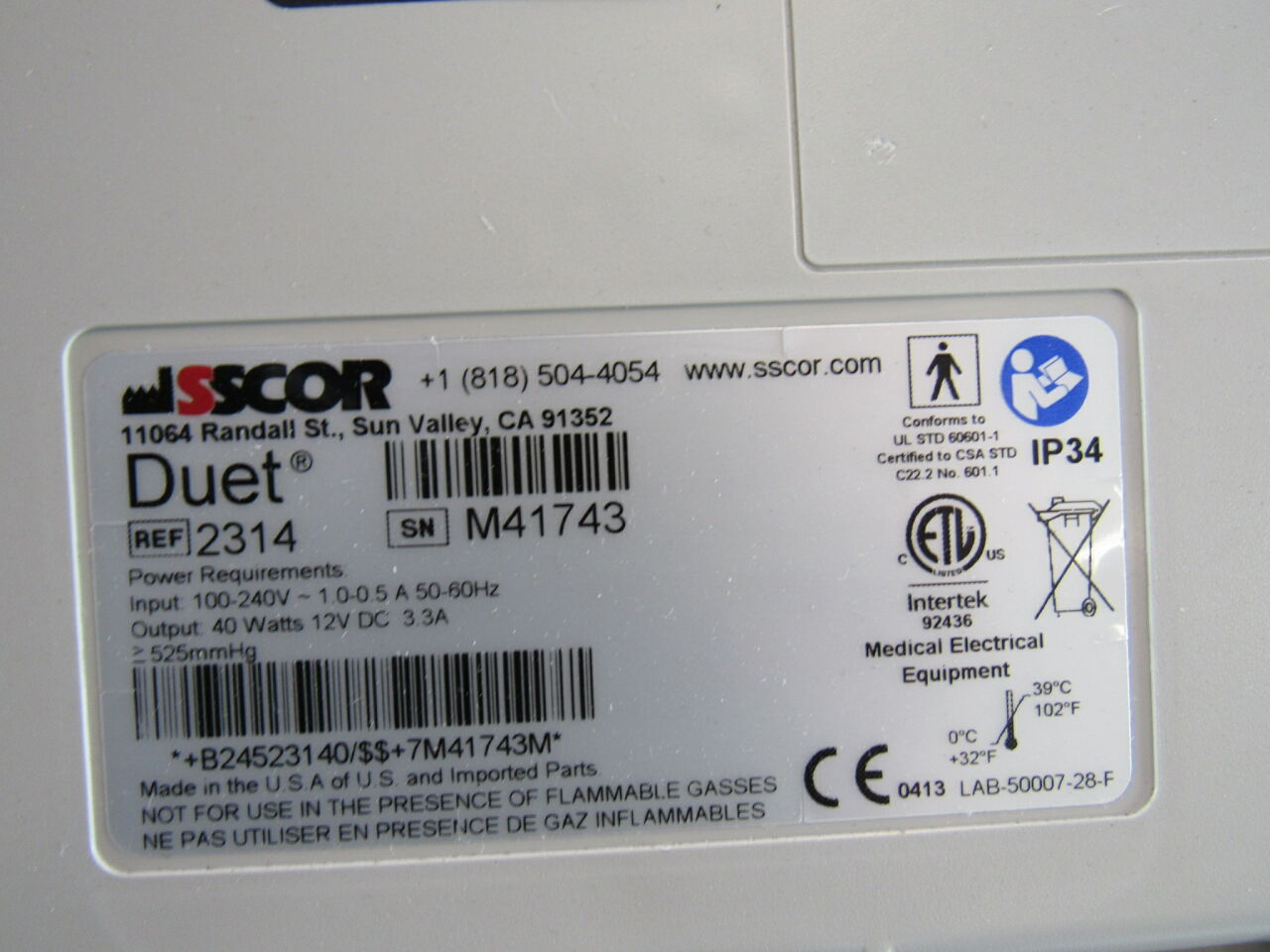 SSCOR  SSCOR Duet Aspirator