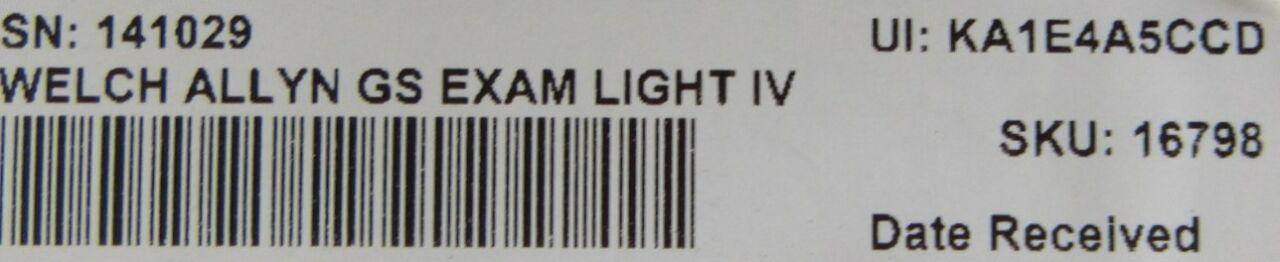WELCH ALLYN GS  IV Exam Light