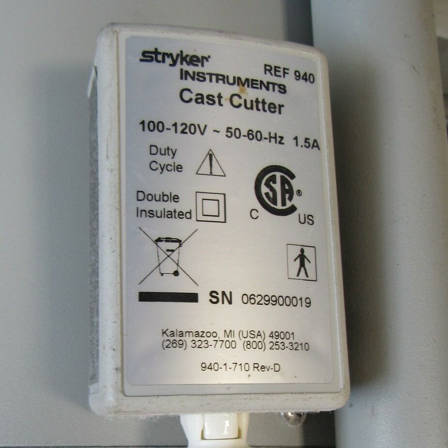 STRYKER CASTVAC Cast Cutter with Stand