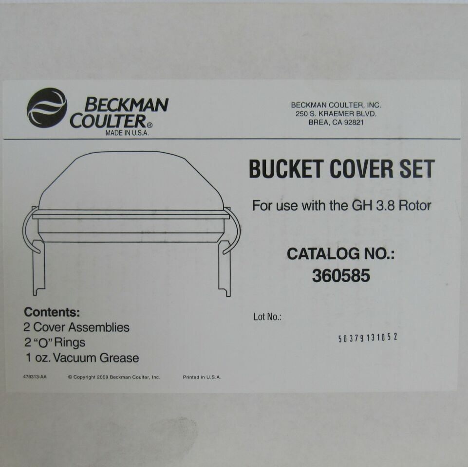 BECKMAN COULTER 360585  - Lot of 2 Bucket Cover Sets