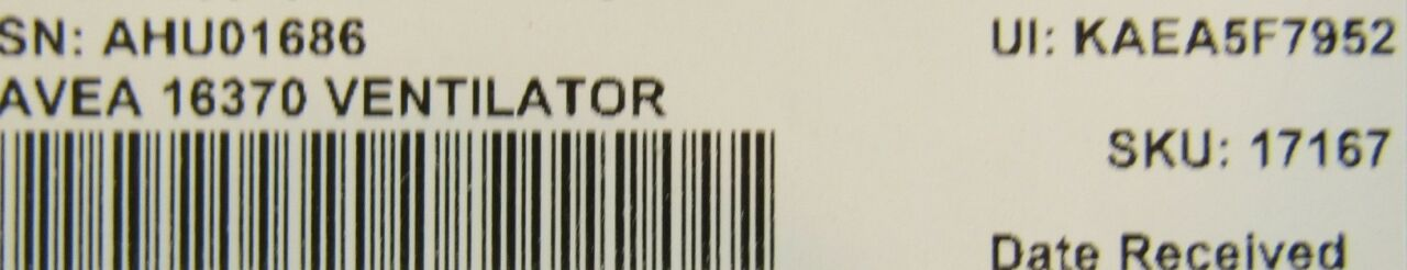 VIASYS Avia 16370 Ventilator Monitor