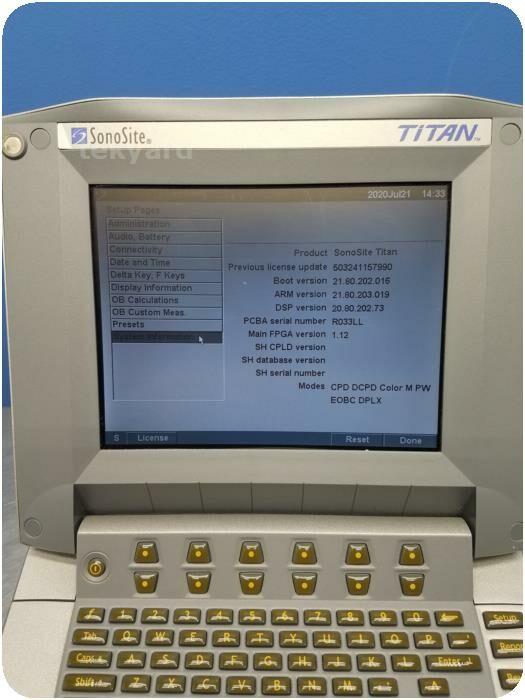 SONOSITE TITAN  P04240-12 High Resolution Portable Ultrasound