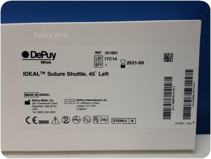 LOT OF 2  DEPUY MITEK IDEAL 251003 Suture Shuttle