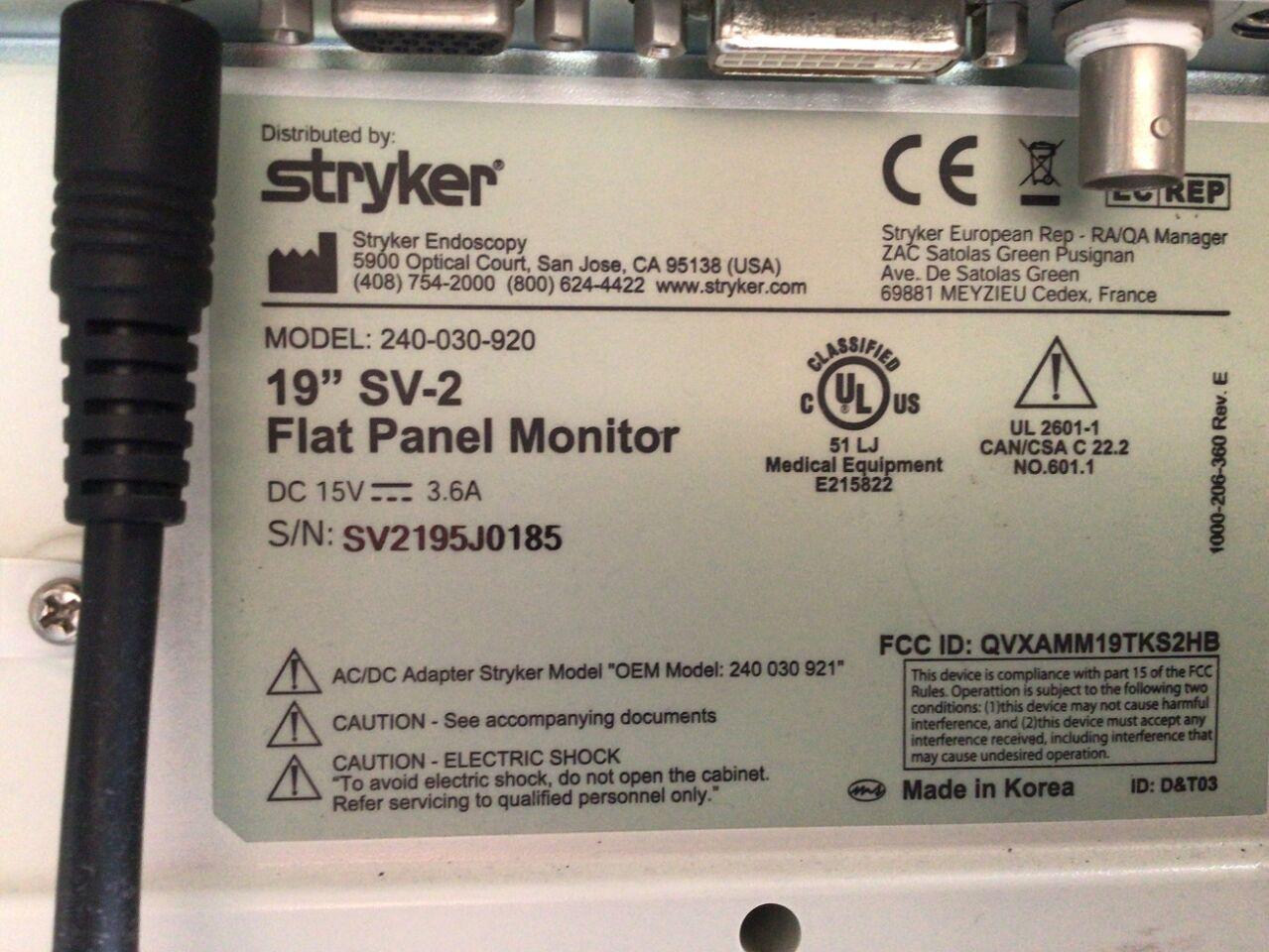 STRYKER 1088i HD Arthroscopic Video System