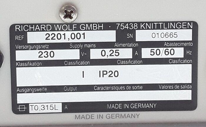 WOLF 2201-001 Endoscopy Sunction Pump Pump Suction