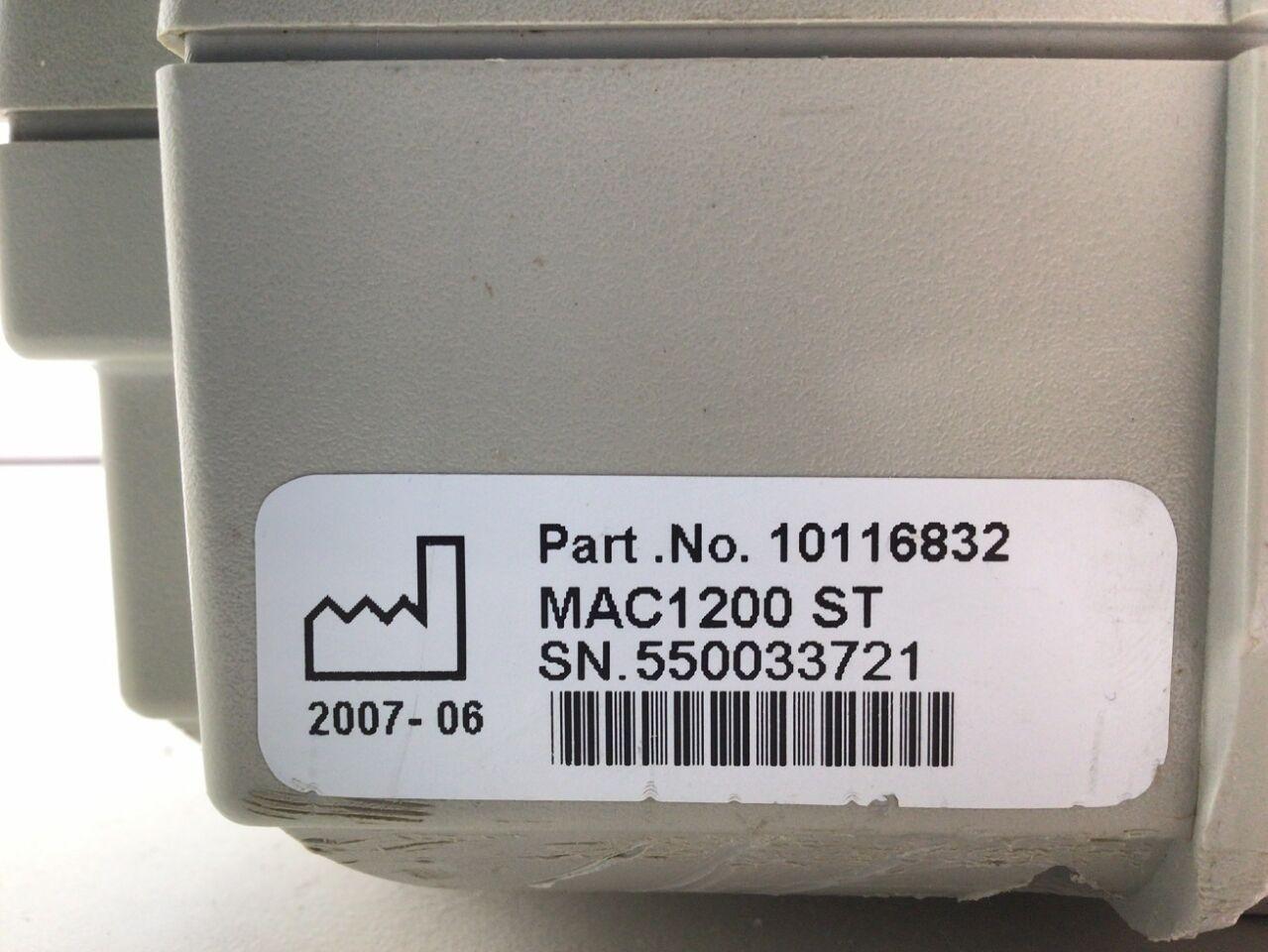 GENERAL ELECTRICS MAC 1200 ST ECG unit