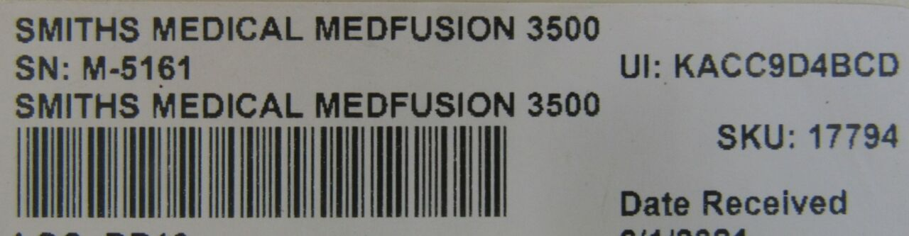 SMITHS MEDICAL Medfusion 3500  - Lot of 2 Pump IV Infusion