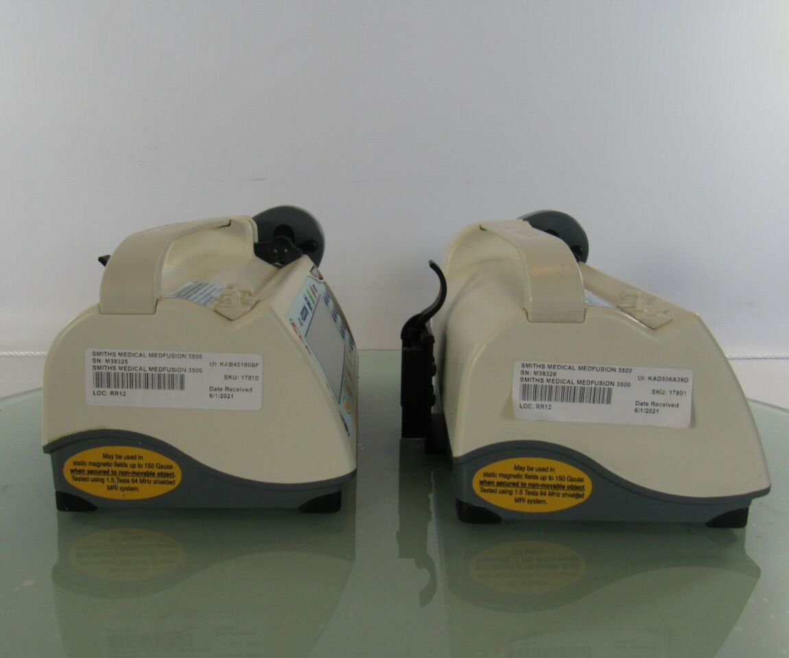 SMITHS MEDICAL Medfusion 3500 Syringe Infusion Pumps w/o Batteries  - Lot of 2 Pump IV Infusion