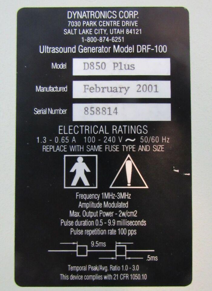 DYNATRONICS D850 Plus Muscle Stimulator