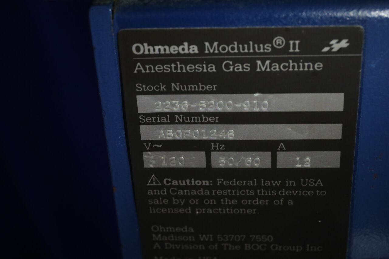 OHMEDA 2236-5200-916 Anesthesia Machine