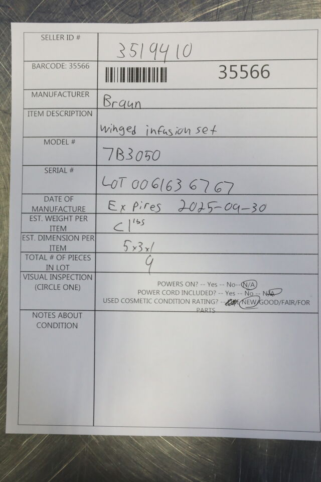 BRAUN 7B3050 IV/Infusion Set