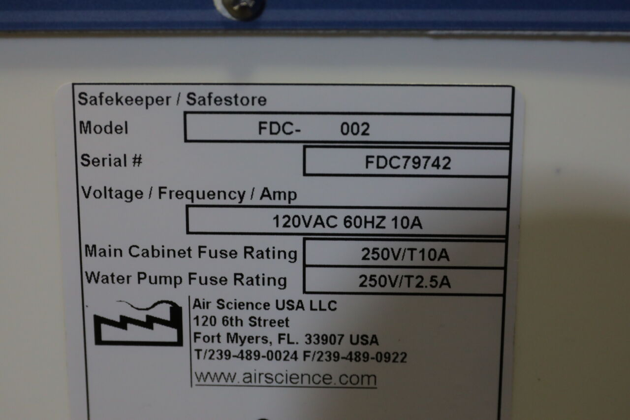 AIR SCIENCE Safekeeper FDC-002 Forensic Evidence Drying Cabinet