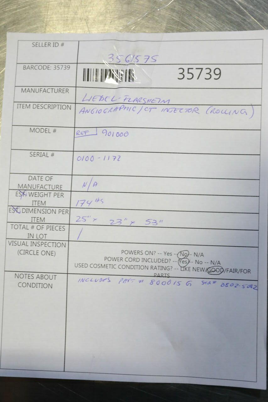 LIBEL FLARSHEIM 901000 Injector CT