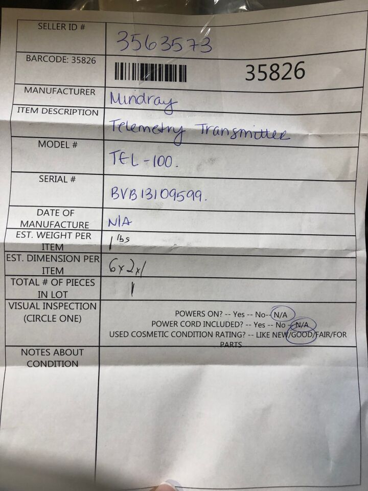 MINDRAY Tel-100 Telemetry