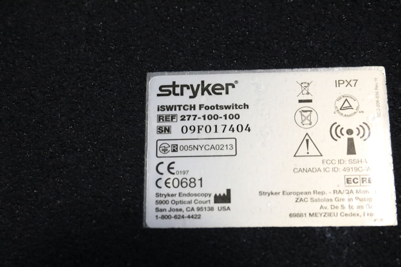 STRYKER 277-100-100 Iswitch Footswitch