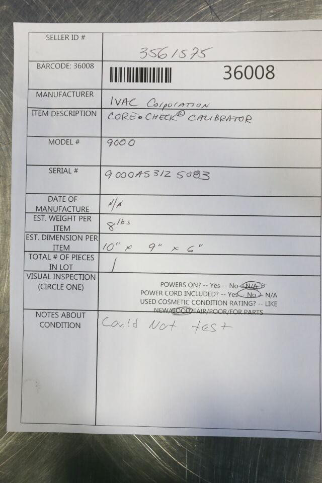 IVAC Core Check 9000 Dose Calibrator