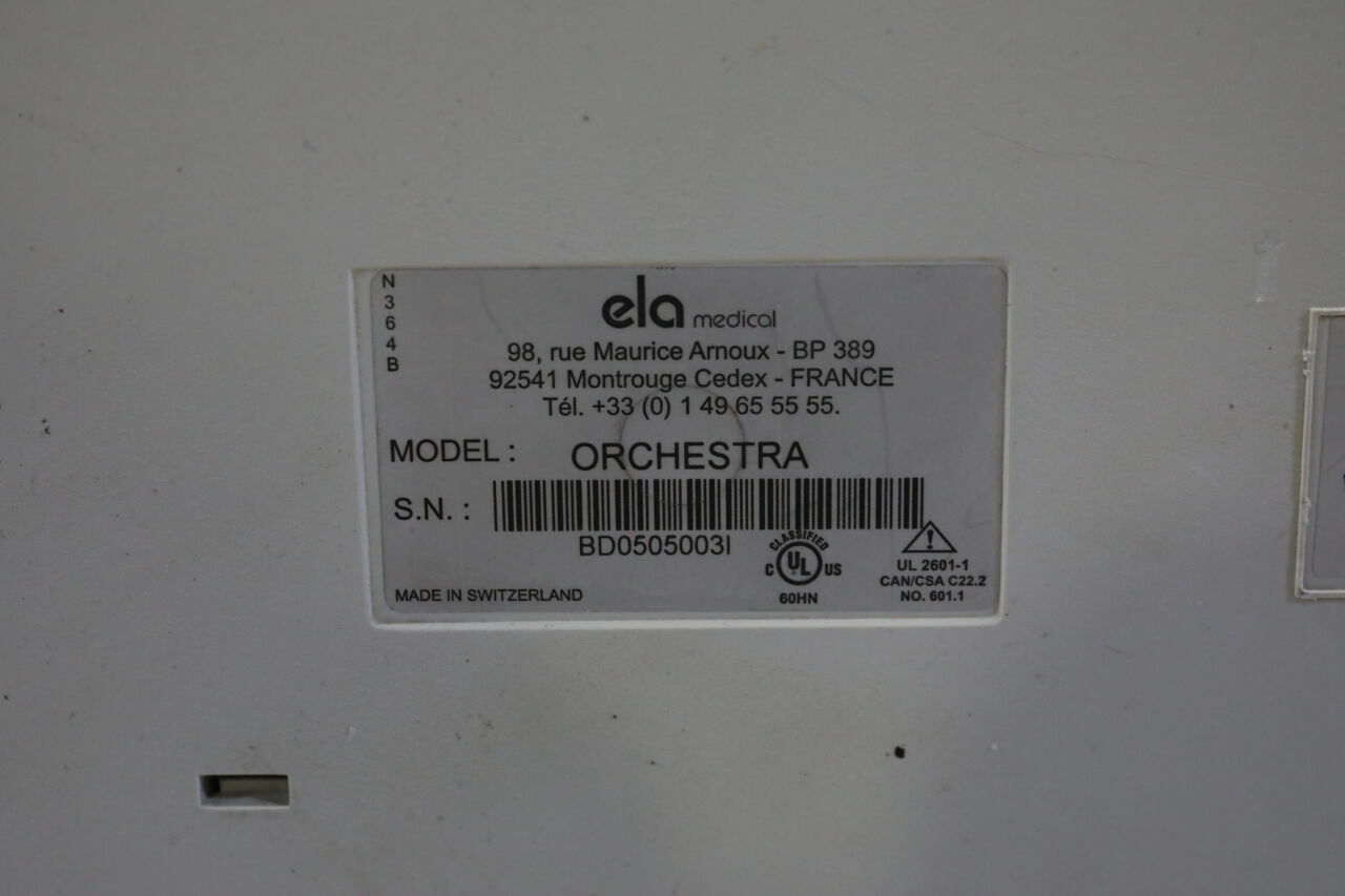 ELA MEDICAL Orchestra Cardiac Ultrasound