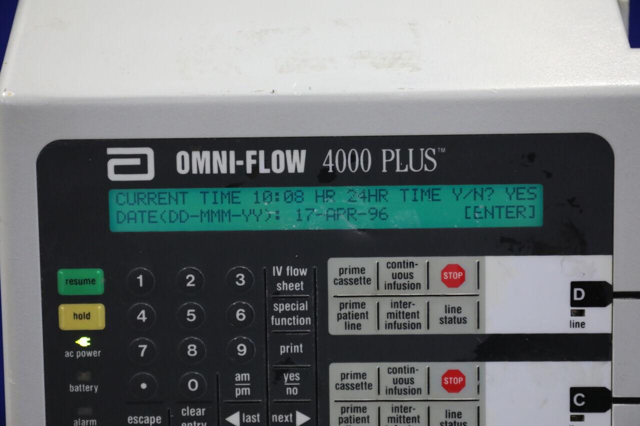ABBOTT Omni-Flow 4000 Plus Pump IV Infusion