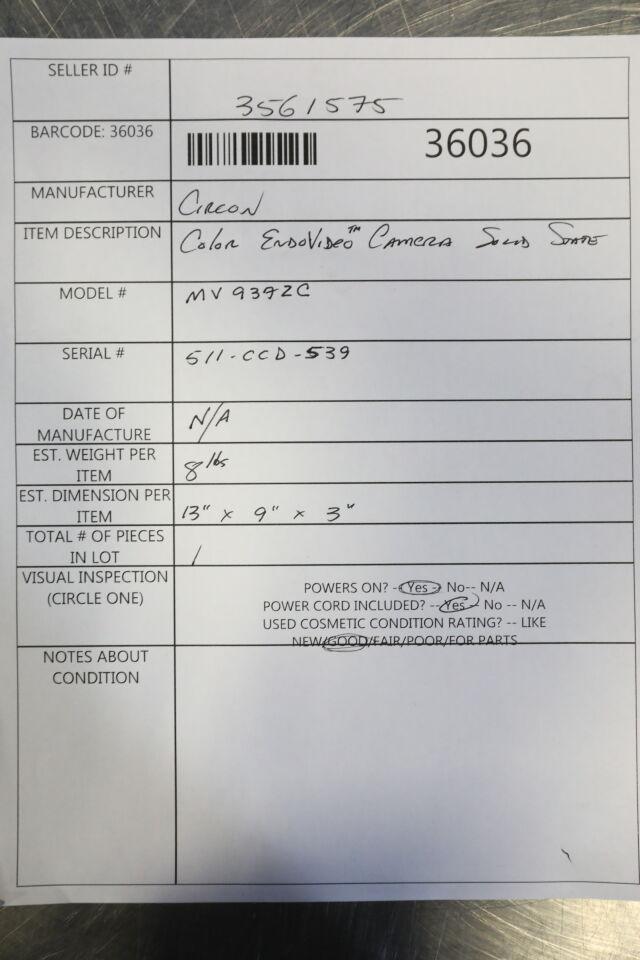 CIRCON MV9372C O/R Camera