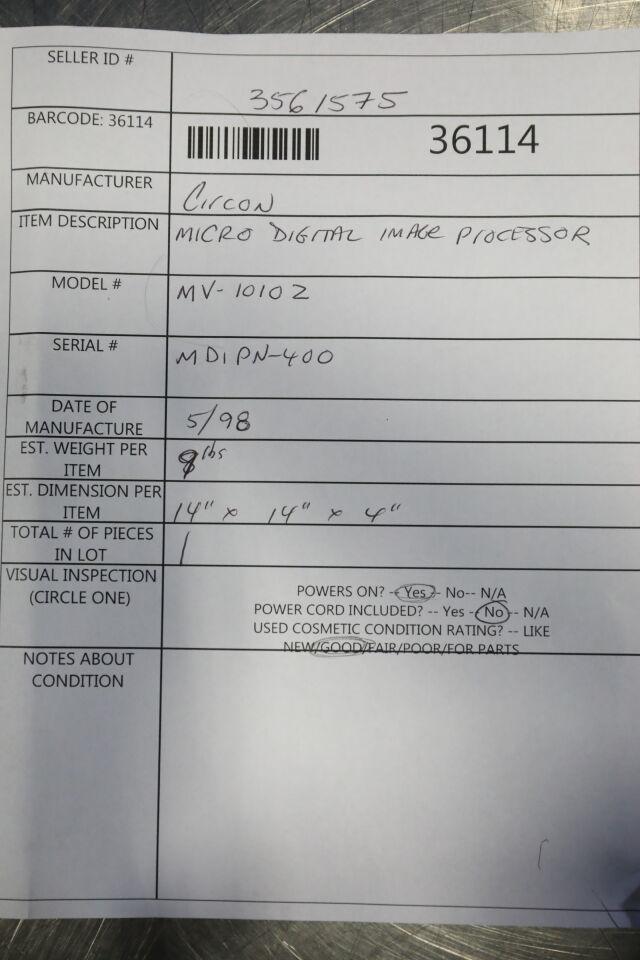 CIRCON MV-10102 Endoscopy Processor