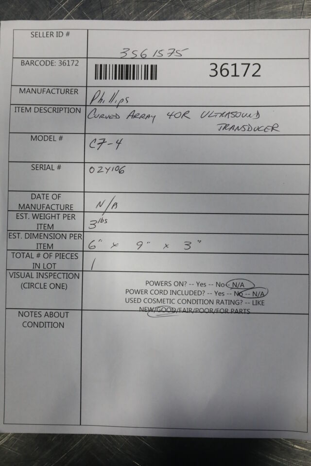 PHILIPS C7-4 Ultrasound Transducer