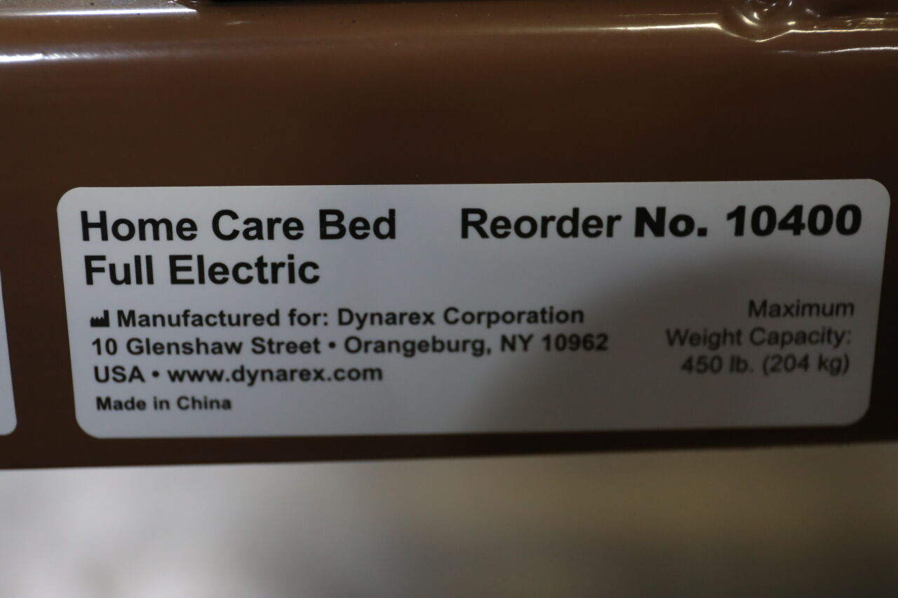 DYNAREX CORPORATION 10400 Home Care Bed